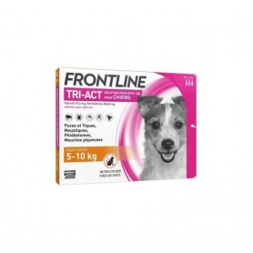 Frontline Tri-Act Dogs 5-10 kg 3 pipettes 1 ml