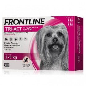 Frontline Tri-Act Dogs 2-5 kg 6 pipettes 0,5 ml
