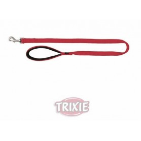TRIXIE - Premium Leash Size M - L Red 100x20 mm