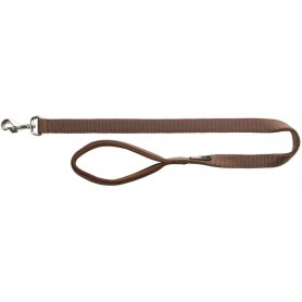 TRIXIE - Premium Leash Size M - L Brown 100x20 mm