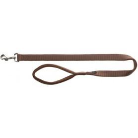 TRIXIE - Premium Leash Size L - XL Brown 100x25 mm