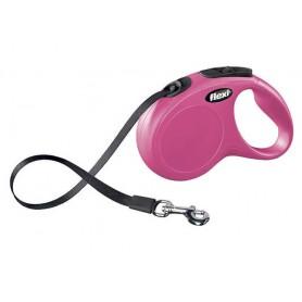 Flexi New Classic S Pink 5m Tape (Max 12 kg)
