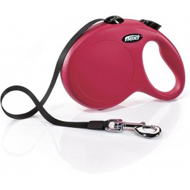 Flexi New Classic L Rosso 8m Fettuccia (Max 50 kg)