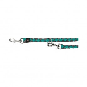 TRIXIE Leash Tubular Trainer S-M Aquamarine/Grey